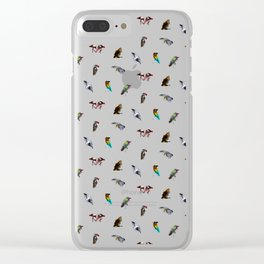 the living bird is not its labeled bones Clear iPhone Case