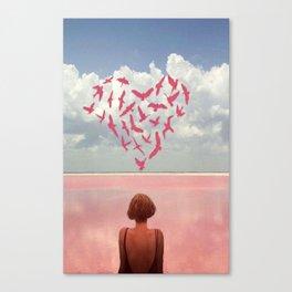 Au loin, far away Canvas Print