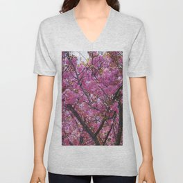 Dogwood Pink Purple Tones Unisex V-Neck