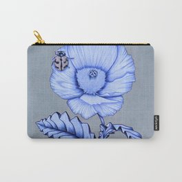 Poppy Anemone with Ladybug Carry-All Pouch