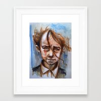 anxiety Framed Art Prints featuring Anxiety by David Castillo