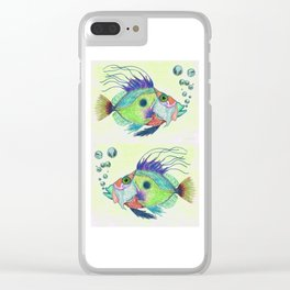 Funky Fish Art - By Sharon Cummings Clear iPhone Case