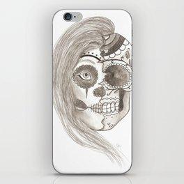 Girl and Sugar Skull iPhone Skin