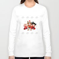 dbz Long Sleeve T-shirts featuring Ugly DBZ Christmas by The Film Guy