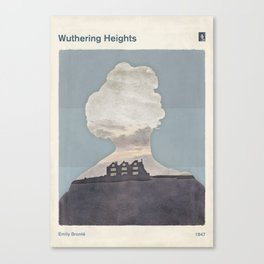 Emily Brontë Wuthering Heights - Minimalist literary design Canvas Print