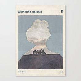 Emily Brontë Wuthering Heights - Minimalist literary design Canvas Print