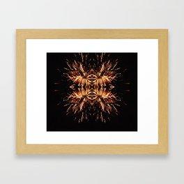 Light Explosion Framed Art Print