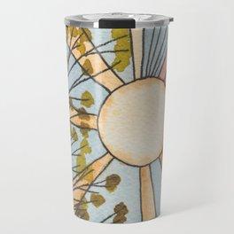 Sunshine Through Leaves Watercolor Painting Travel Mug