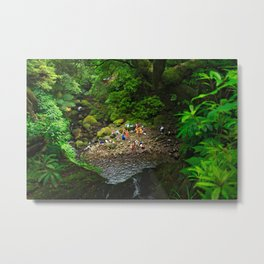 Bathing in the forest Metal Print