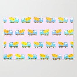 Toy truck pattern Rug