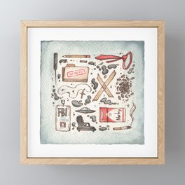Collection of Ex Files Framed Mini Art Print