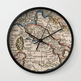 Vintage Map of Italy (1659) Wall Clock