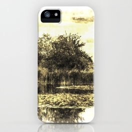 Lily Pond Vintage iPhone Case