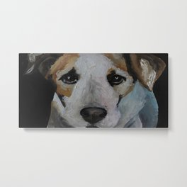 Art work, oil painting, animal, dog jackrussell Metal Print