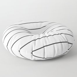 SKINNY STRIPE ((black on white)) Floor Pillow