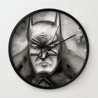 bat Wall Clocks featuring Bat by rchaem