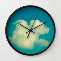 cloud Wall Clocks featuring Cloud by Jean-François Dupuis