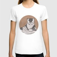 snow leopard T-shirts featuring Snow Leopard by Diana Hope