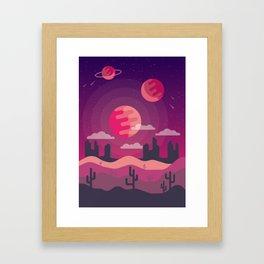 Magical desert Framed Art Print
