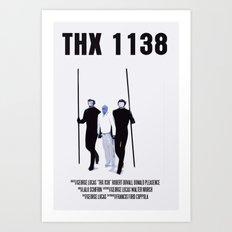 THX 1138 Movie Poster Art Print