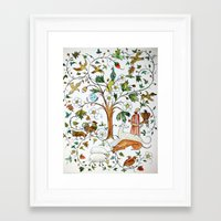 medieval Framed Art Prints featuring MEDIEVAL by oxana zaika