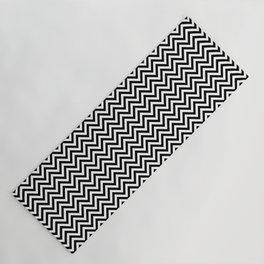 Black and White Chevron Yoga Mat