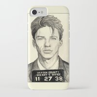 frank sinatra iPhone & iPod Cases featuring Frank Sinatra - Mugshot 1938 by Tim Clary