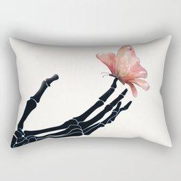 Butterfly on Skeleton Hand Rectangular Pillow