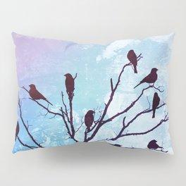 Blackbirds Tree Modern Cottage Chic Farmhouse Home Decor A503b Pillow Sham
