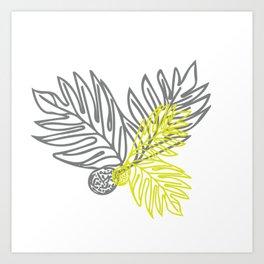 Ulu Forest Green and Grey Art Print