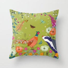 Very Pheasant to Meet You Throw Pillow