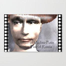 Cartoon Coronation of Vladimir Putin Tzar of Russia Canvas Print