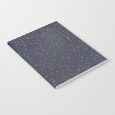 Speckles I: Dark Gold on Blue Vortex Notebook