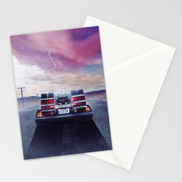 Out at time Stationery Cards