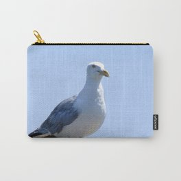 Watercolor Bird, Herring Gull 03, Janes Island, Maryland Carry-All Pouch