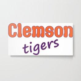 Clemson Tigers Metal Print