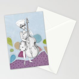 I bass play a song for you Stationery Cards