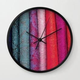 Fab Fabrics Wall Clock