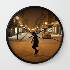 Québec Night Wall Clock