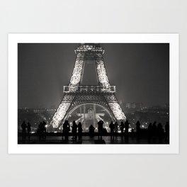 Eiffel Silhouettes Art Print
