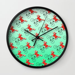 Christmas fox Wall Clock