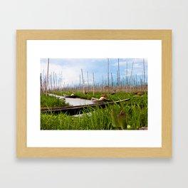 Floating gardens Framed Art Print