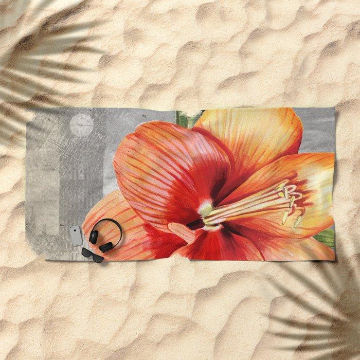 Macro Flower #5 Beach Towel