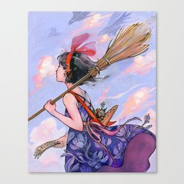 Windy Witch Canvas Print