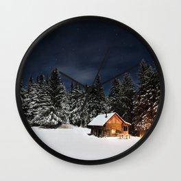 Cozy Cabin Wall Clock