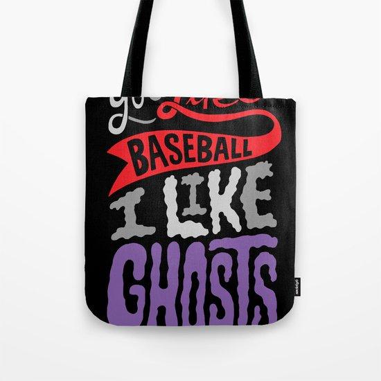 Baseball, Ghosts Tote Bag