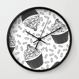 Coloring Book Cupcakes and Sprinkles Wall Clock