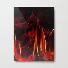 Feuer und Qualm Metal Print