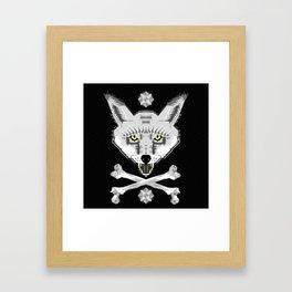 Silver Fox Geometric Framed Art Print