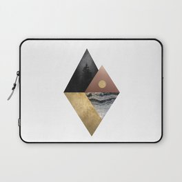 Night and Day Modern Scandinavian Abstract Laptop Sleeve